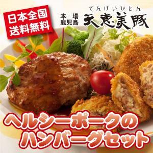 本場鹿児島産 ヘルシーポークの ハンバーグ セット(ギフト プレゼントにもどうぞ)|tanosimi