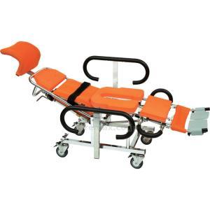 リクライニング シャワーキャリー AL4 No.5600 介護用 ・体型や状態に応じてフレキシブルに...