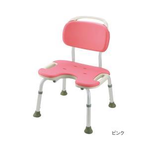 介護用品 風呂いす やわらかシャワーチェア U型 背付ワイド 49451 シャワーベンチ・座ったまま...