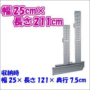 スライドスロープ ESKシリーズ ESK200R 長さ2m 2本1組 介護用品|tanosinia