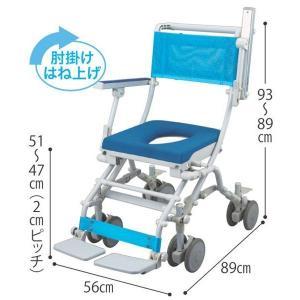 シャワーキャリー シャトレチェアB 4輪自在タイプ 穴有りシート仕様 SW-6050 介護用品|tanosinia