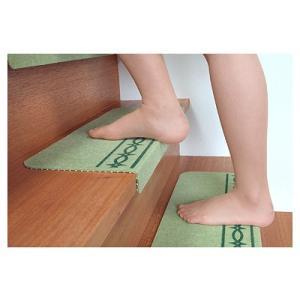 コーナー付階段マット スベリ止め付15枚入 介護用品|tanosinia