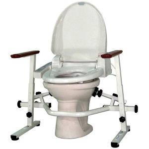 介護用品 洋式トイレ手すり といれって 肘掛固定式 K-W|tanosinia