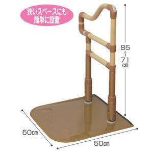 離床・介護支援用手すり 「楽起」 狭所用波型 トイレ用手すり 介護用品|tanosinia