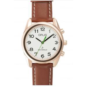 GRUS 音声時計 ボイス電波 トーキングウォッチ 電波腕時計の詳細  ・外時刻や日付を声で知らせる...