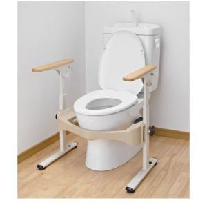 介護用品 洋式トイレ用フレームS はねあげR2 木製ひじ掛け トイレ用手すり|tanosinia