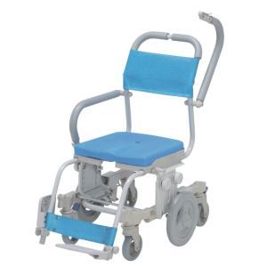 シャワーキャリー シャトレチェア6輪 穴無シート SW-608 ウチヱ 介護用品 入浴用車いす|tanosinia