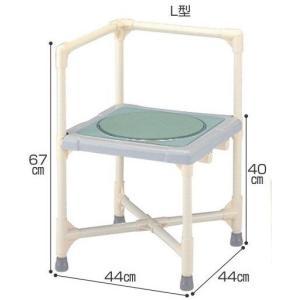 シャワーチェア 介護用品 風呂椅子 シャワーいす ターンテーブルタイプ L型 CAT-0101 座面回転 矢崎化工|tanosinia