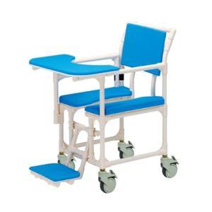 シャワーキャリー フロントレストタイプ CAK-029 矢崎化工 介護用品 入浴用車椅子 排便補助キャリー|tanosinia