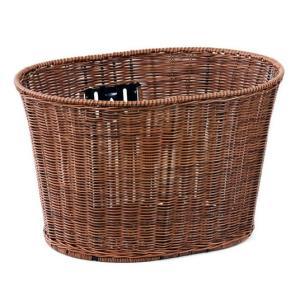 【取り寄せ商品】自転車用籐風丸型バスケット TP-309【納期約1週間〜】 tanpopo