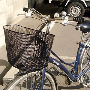 自転車用前かご メッシュタイプ ブラック 9214B|tanpopo