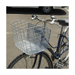 自転車用ラージカゴ(ワイドバスケット) D-51 パールシルバー tanpopo