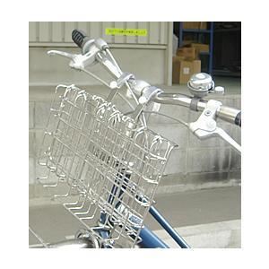 おりたたみ自転車用フロントバスケット SOT-20 ステンレス製前カゴ[ミニベロ・小径車にも取付OK]|tanpopo