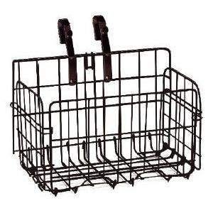 自転車用 折畳み式フロントバスケット SOT-20 鉄製前カゴ ブラウン ※取付金具は黒色になります tanpopo