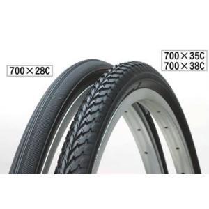 自転車用タイヤ 700×38C ブラック 1本|tanpopo
