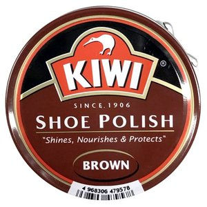 KIWI大缶油性クリーム茶 靴墨 靴クリーム 茶色|tanpopo