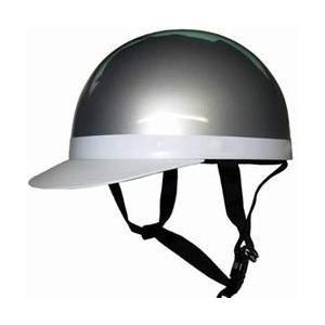 【取り寄せ商品】白ツバ 半キャップヘルメット シルバー バイク用【納期約1週間〜】 tanpopo