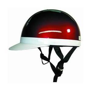 【取り寄せ商品】白ツバ 半キャップヘルメット キャンディレッド バイク用【納期約1週間〜】 tanpopo