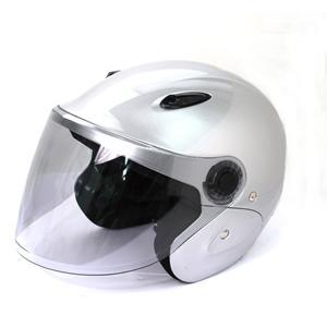 セミジェットヘルメット KSJ-323 バイク用 シルバー tanpopo