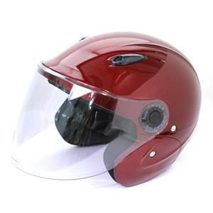 セミジェットヘルメット KSJ-323 バイク用 キャンディーレッド tanpopo