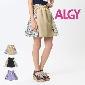 【セール/10%OFF】20'夏新作 ALGY アルジー レースアップチェックドッキングスカート g218150 子供服 ジュニアJr メール便送料無料 tanpopokids