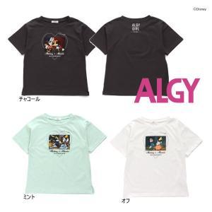 【セール/10%OFF】21'夏新作 ALGY アルジー ミッキーミニー転写ハートpt半袖Tシャツ g207931 子供服 ジュニアJr メール便送料無料 tanpopokids