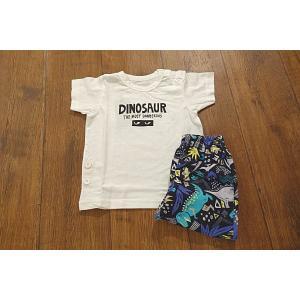 AMPERSAND アンパサンド DINOSAURロゴ恐竜パジャマ 子供服 メール便送料無料 18'春夏新作|tanpopokids