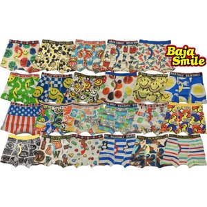 【3枚よりメール便送料無料!】BAJA SMILE バハスマイル デザインボクサーパンツ(10〜18)|tanpopokids