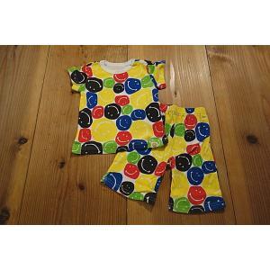 【メール便送料無料】【セール3,132円⇒】BAJA(バハ) カラースマイル総柄半そでパジャマ|tanpopokids