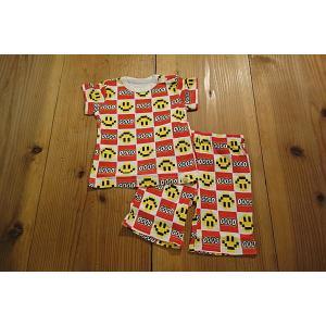 【メール便送料無料】【セール3,132円⇒】BAJA(バハ) GOODブロックスマイル柄半そでパジャマ|tanpopokids