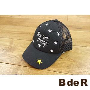 19'夏新作 BdeR ビーデアール ロゴ星刺繍メッシュキャップ 子供用/帽子 メール便不可|tanpopokids