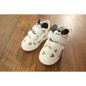【セール/10%OFF】BIT'Z ビッツ GDミッキーファーストシューズ ベビー靴 メール便不可 17'秋冬新作|tanpopokids