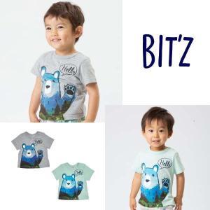 【セール/10%OFF】19'夏新作 BIT'Z ビッツ HelloクマプリントTシャツ b207039 子供服 メール便送料無料 tanpopokids
