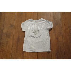 【セール2,052⇒】BoomyRoomy ブーミールーミー SWEETフラワーハートTシャツ 子供服 メール便OK 17'夏新作|tanpopokids