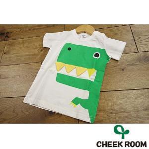 19'夏新作 CHEEK ROOM 知育ルーム 恐竜キバ123Tシャツ 子供服 メール便送料無料|tanpopokids