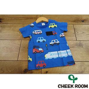 【セール/30%OFF】19'夏新作 CHEEK ROOM 知育ルーム 誰が乗っているかな?乗り物Tシャツ 子供服 メール便送料無料|tanpopokids