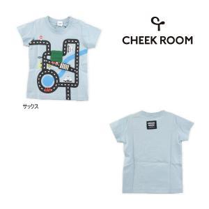 【セール30%OFF】21'夏新作 CHEEK ROOM 知育ルーム 迷路道路半そでTシャツ ベビー 子供服 メール便送料無料 tanpopokids
