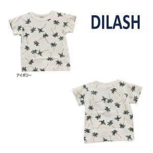 【セール/10%OFF】21'夏新作 DILASH ディラッシュ やしの木総柄半袖Tシャツ dl21es019 ベビー 子供服 メール便送料無料対象外(160円)|tanpopokids