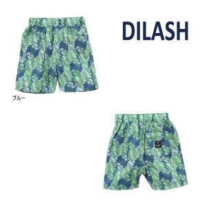 【セール/10%OFF】21'夏新作 DILASH ディラッシュ リーフ総柄4分丈パンツ dl21es033 ベビー 子供服 メール便送料無料|tanpopokids
