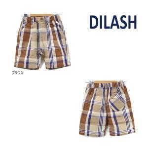 【セール/10%OFF】21'夏新作 DILASH ディラッシュ チェック綿麻4.5分丈パンツ dl21es039 ベビー 子供服 メール便送料無料|tanpopokids