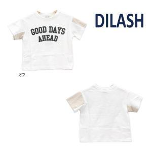 【セール/10%OFF】21'夏新作 DILASH ディラッシュ GOODDAYS袖メッシュ半袖Tシャツ dl21es022 ベビー 子供服 メール便送料無料|tanpopokids