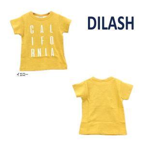 【セール/10%OFF】21'夏新作 DILASH ディラッシュ CALIFORNIAロゴ半袖Tシャツ dl21es020 ベビー 子供服 メール便送料無料|tanpopokids