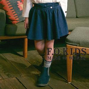 【セール/10%OFF】18'秋新作 F.O.KIDS エフオーキッズ ウエストリボンスカートパンツ r418018 子供服 メール便送料無料|tanpopokids