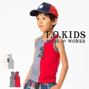 19'夏新作 F.O.KIDS エフオーキッズ 1バイカラータンクトップ r310039 子供服 メール便送料無料対象外(160円)|tanpopokids