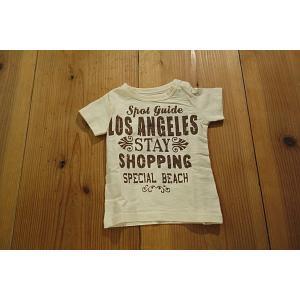 【メール便送料無料】【セール1,728円⇒】JEANS-b(ジーンズベー) LOS-ANGELESロゴTシャツ tanpopokids
