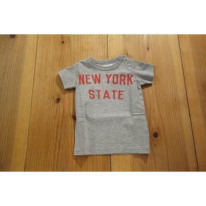 【メール便送料無料】【セール1,728円⇒】JEANS-b(ジーンズベー) NEWYORK-STATEロゴTシャツ tanpopokids