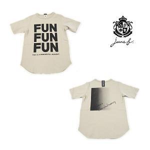 【セール30%OFF】20'夏新作 JEANS-b ジーンズベー FUNFUNFUNロゴTシャツ 子供服 ジュニアJr メール便送料無料|tanpopokids