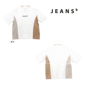 21'夏新作 JEANS-b ジーンズベー CRESCENTサイド切替半そでTシャツ 子供服 ジュニアJr メール便送料無料|tanpopokids