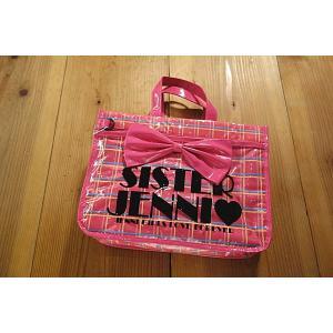 【16'春夏新作】JENNI(ジェニィ) リボン付ラインチェックレッスンバッグ tanpopokids