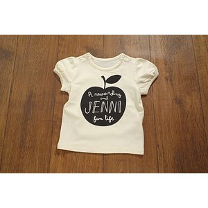 【セール2,808円⇒】JENNIbaby ジェニィベビー アップルロゴTシャツ ベビー服 メール便OK 17'春夏新作|tanpopokids